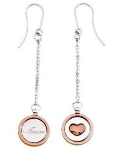Orecchini 2 Jewels in Acciaio Bicolore Twice 261091