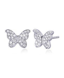 Orecchini Mabina con Farfalla in Argento