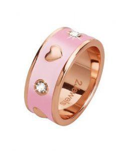 Anello 2 Jewels Smalto Rosa Smart 221039