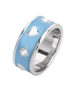 Anello 2 Jewels Smalto Azzurro Smart 221040