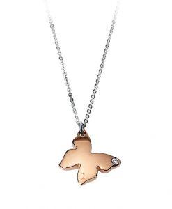 Collana 2 Jewels Farfalla rosè Puppy 251167