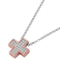 Collana 2 Jewels con Croce in Argento 925 Rosè 253049