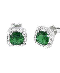 Orecchini Mabina Smeraldo in Argento Gioielli Donna 563054