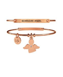 Bracciale Kidult Spirituality Angelo | Protezione Rose Gold