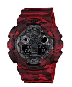 G-Shock Classic GA-100CM Rosso Camouflage