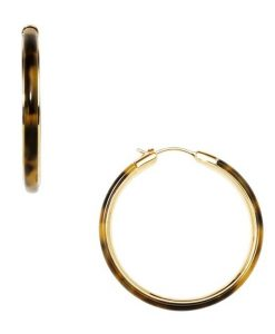 Orecchini Fossil Tartan Gold