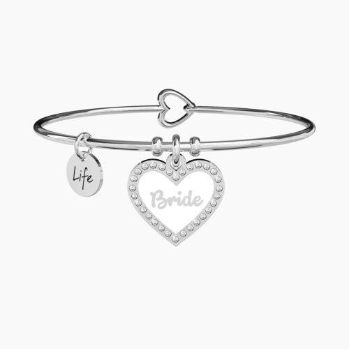 Bracciale ciondolo cuore Bride-La sposa Kidult Gioielli 731693