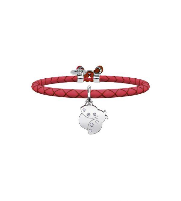 Bracciale Kidult Rosso con Coccinella 731456