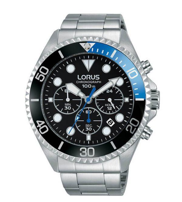 Orologio Chronografo Lorus Blu e Nero RT315GX9