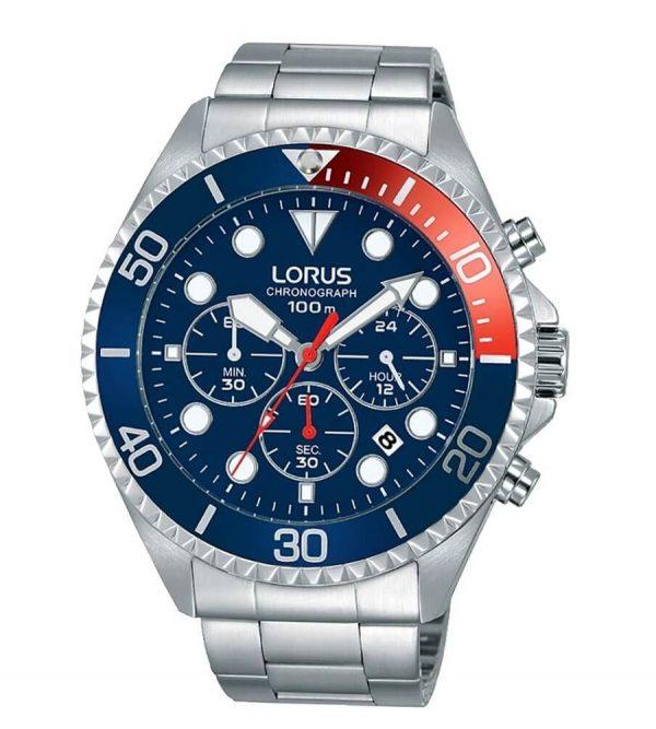 Orologio Chronografo Lorus Blu e Rosso RT317GX9