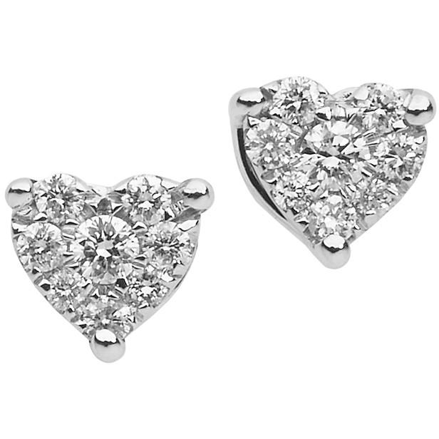 Orecchini Comete a Cuore con Diamanti ORB-829
