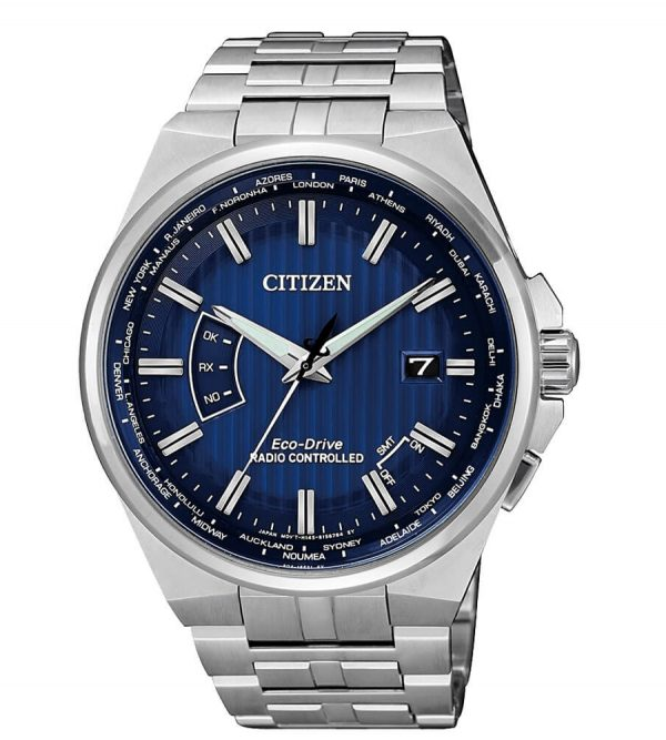 Orologio Citizen Radiocontrollato Blu CB0160-85L